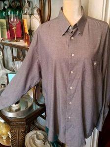 Mens Yves Saint Laurent Micro Stripe Shirt Sz. XL